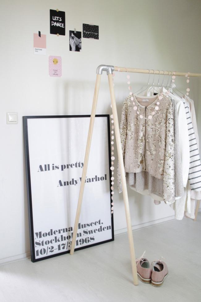 DIY colgador de ropa
